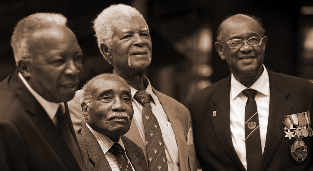 DONALD CLARKE, GEORGE MASON, SAM KING, ALLAN WILMOT (WINDRUSH PIONEERS, 1948)
