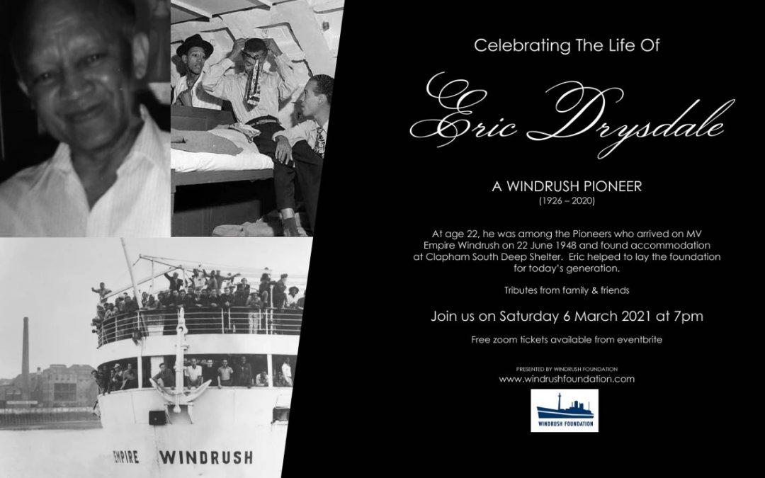 Celebrating the life of Eric Drysdale